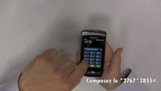 Samsung Wave - Faire un Hard Reset (RAZ)