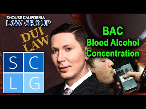"What is ""BAC"" in California DUI law?"