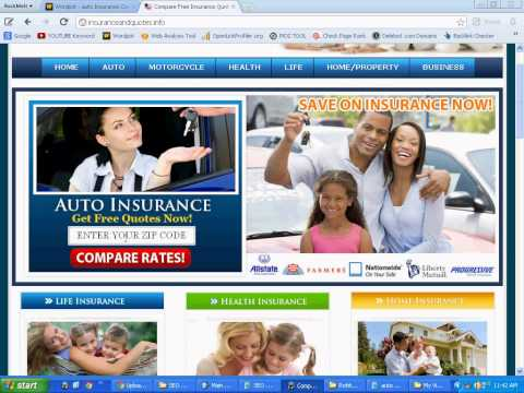 List of all the auto insurance companies with phone numbers for the state of california