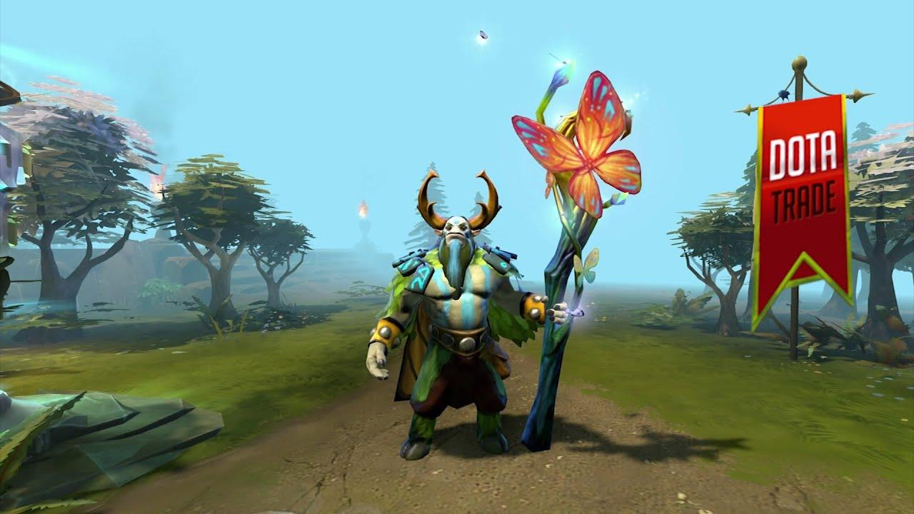 Fluttering Staff Natures Prophet Immortal Custom Effect Preview Dota 2 YouTube