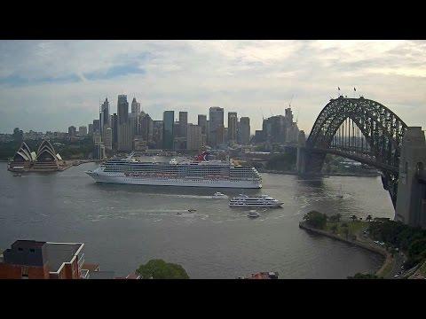 Carnival Legend departing Sydney Harbour