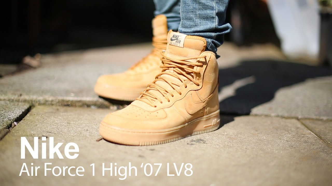 On Foot Review Nike Air Force 1 High 07 Lv8 Youtube