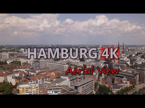 Ultra HD 4K Hamburg Travel Aerial View Tourism Tourist Attractions Sightseeing Video Stock Footage