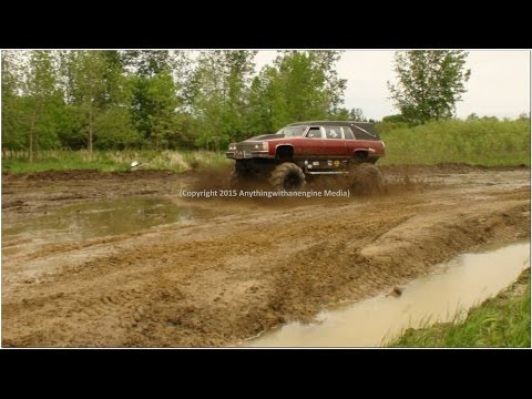 PART FOUR MUD TRUCKS PLAY IN THE MUD AT SILVER BULLET SPEEDWAY MUD BOG MAY 31ST, 2015 OWENDALE, MICH