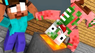 Monster School : HEROBRINE BRAVE CHALLENGE - Minecraft Animation