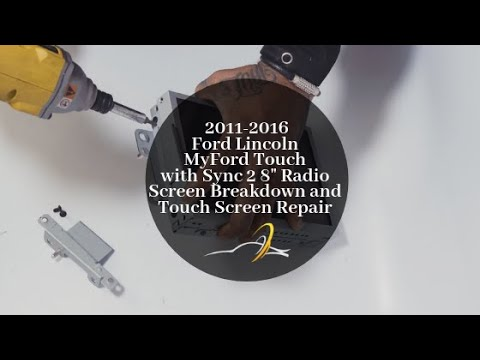 Ford Lincoln MyFord Touch Sync 2 Radio Screen Breakdown and Touch Screen Replacement