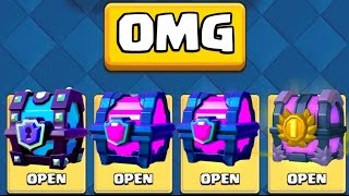 OPENING ALL MY BEST CHESTS :: Clash Royale :: NEW EPIC EXECUTIONER CARD!