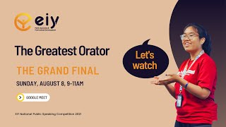 EIY - Virtual National Public Speaking Competition 2021 - The grand final