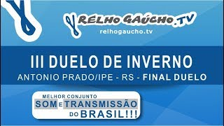 FINAL DUELO INDIVIDUAL - III DUELO DE INVERNO - PISTA COBERTA