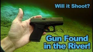 I Found a Gun in the River!! Police Called | Will it Shoot? | Glock 42 Pistol | Underwater Treasure