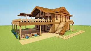TUTO Maison de Plage de luxe sur Minecraft !! :)