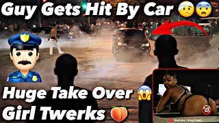 Cops Show Up To Wild Car Meet Girl twerks On Car *Must Watch*