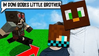 TROLLING MY 'LITTLE BROTHER' ON MY MINECRAFT SERVER..