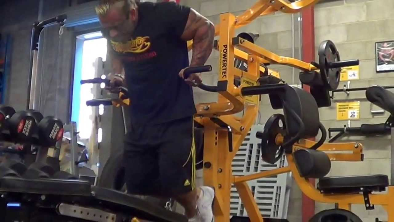 Lee Priest Does Dips On Powertec Multi System Youtube