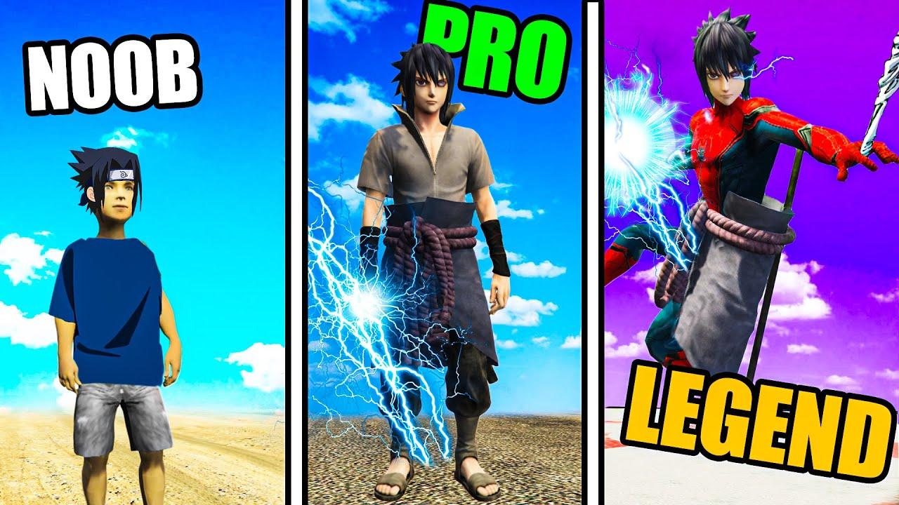 Upgrading SASUKE with SPIDER-MAN Powers! In GTA 5