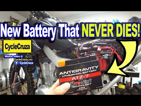 New Lithium Ion Motorcycle Battery That NEVER DIES