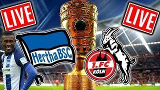 HERTHA BSC - 1.FC KÖLN 25.10.17 1:3 DFB Pokal LIVE 😱🔥