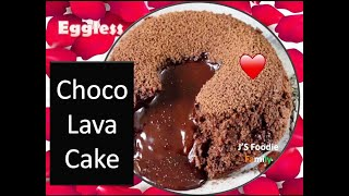 how to make Chocolate Lava Cake (Egg-less) easy and quick recipe to make delicious Valentine cake