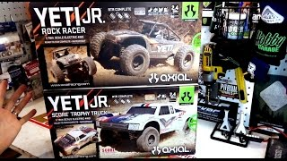 CAMPING WITH COLEMAN | AXIAL YETI JR & SCORE JR | EPIC UNBOXING & REACTION! | PART 1