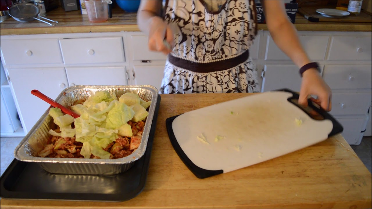 How to cook lazy cabbage rolls in the oven 11