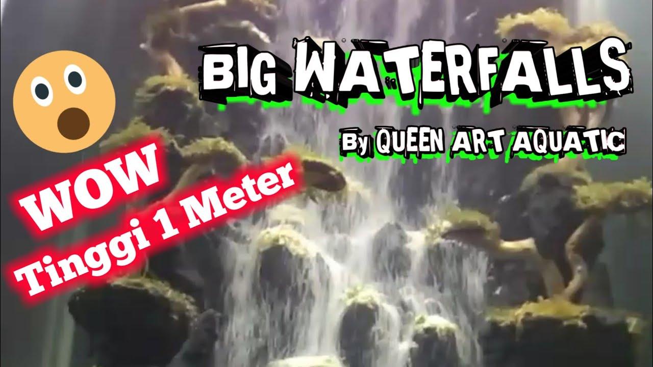Wow Aquascape Air Terjun Waterfall Dengan Tinggi 1 Meter Youtube