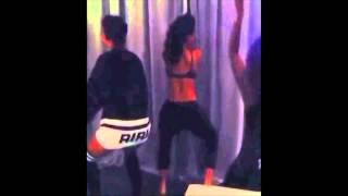Rihanna Twerks To T-Pain - Up Down feat. B.O.B & Matt Porsche