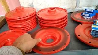 Видео обзор Фланцы для бетономешалки на 125 литров  (опорная тарелка )