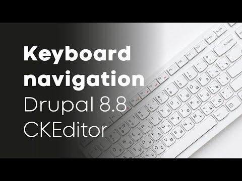Keyboard navigation with media embedding in Drupal 8 8's CKEditor thumbnail