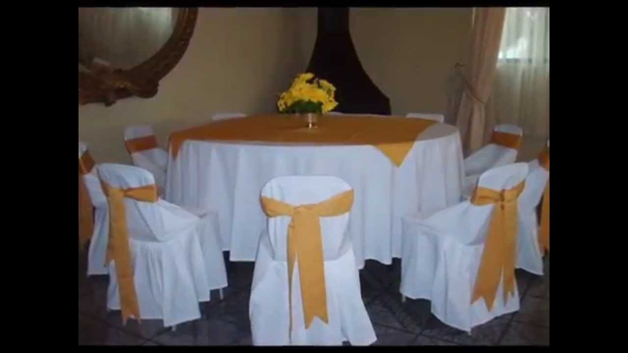 Mesas y sillas para comunion youtube for Mesas plegables para eventos