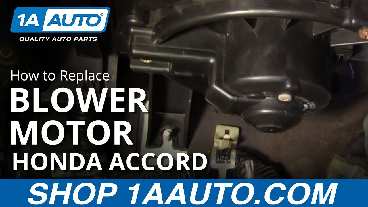 medium resolution of how to install replace heater ac blower motor honda accord civic acura cl el integra 92 06 1aauto