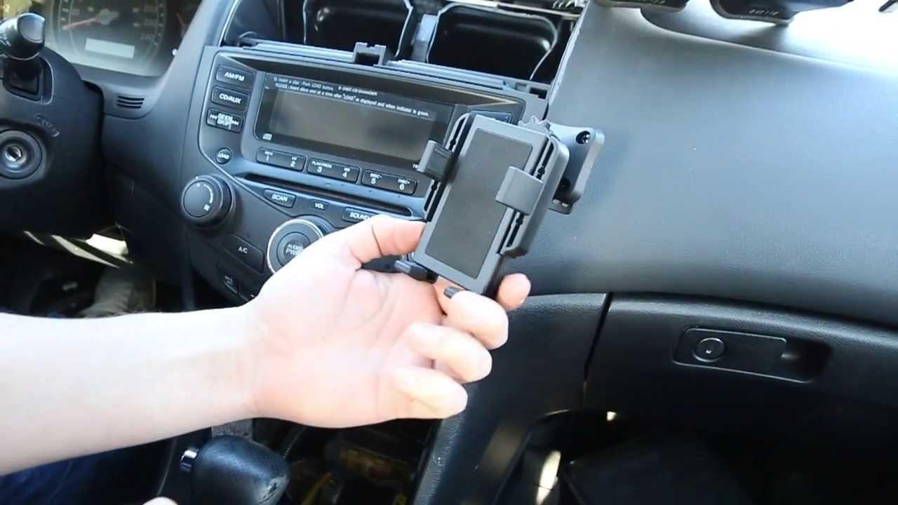 honda accord   indash car phone holder install usage youtube