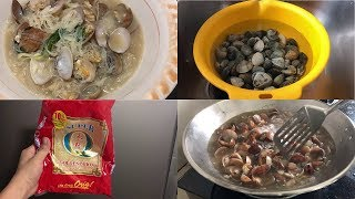How to Cook Shell with Bihon (Clam Soup with Chinese Noodles) Filipino Style