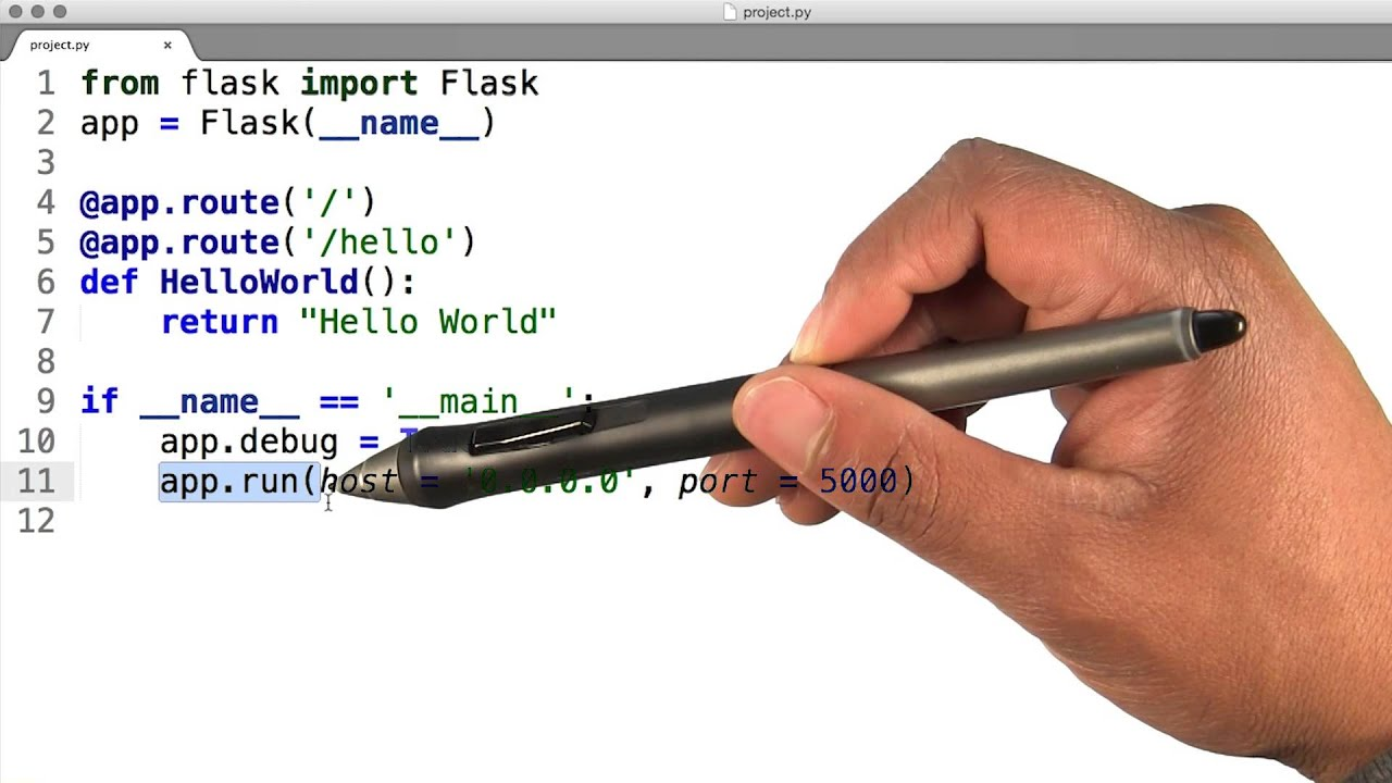 Running Your First Flask Application