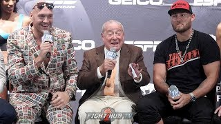 THE FULL TYSON FURY VS TOM SCHWARZ FINAL PRESS CONFERENCE & FACE OFF VIDEO