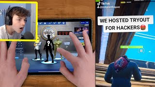 My TIKTOK Clan hosted TRYOUTS in Fortnite Mobile...