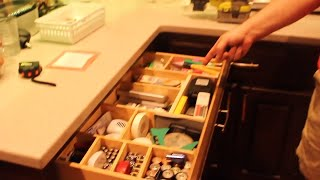 DIY Kitchen drawer Organization from scraps