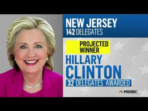 MSNBC Projects Hillary Clinton wins New Jersey