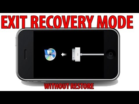 How to EXIT RECOVERY MODE without RESTORE - iPhone, iPad , iPod Touch