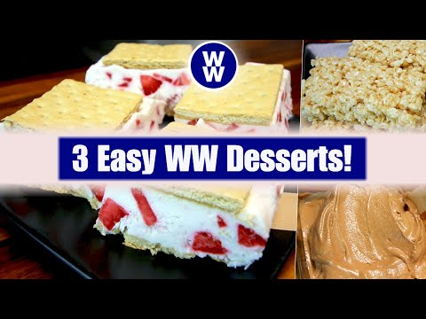 3 Quick and Easy WW Desserts (Weight Watchers) | Low Point Desserts
