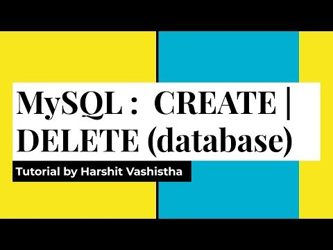 Create And Delete Database : MySql (Hindi)