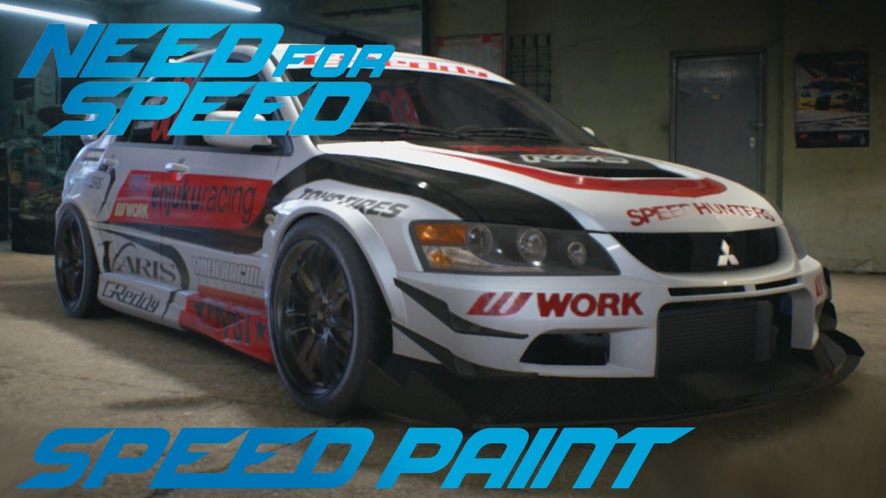 need for speed 2015 mitsubishi lancer evolution ix speed paint youtube - Mitsubishi Lancer Custom Paint