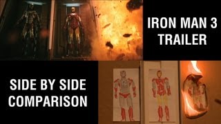 Iron Man 3 trailer - sweded side by side comparison Thumbnail