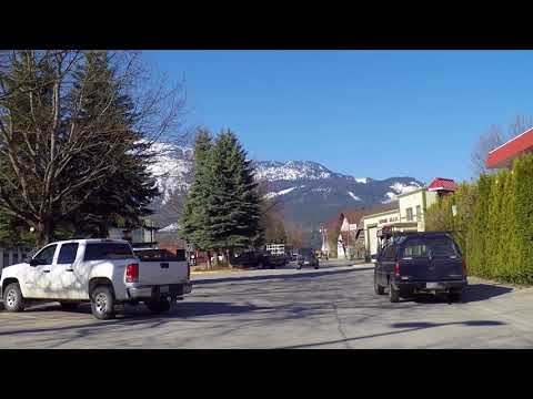 Revelstoke BC (British Columbia) Canada - Driving Tour In City - Ski Resort Area