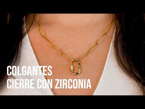 Crea joyería imprescindible con los colgantes cierre con zirconia