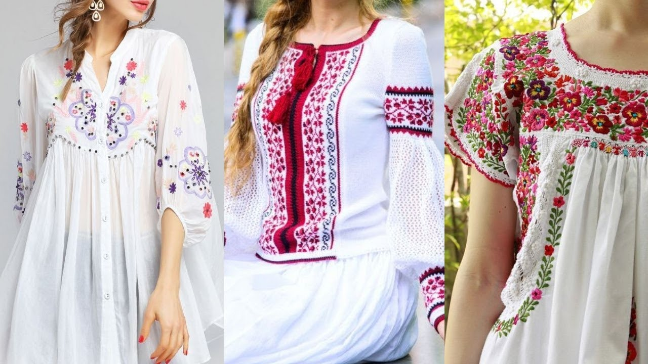 35 Latest Embroidery Designs Kurtis Hand Embroidery Designs For