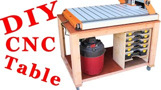 Simple Mobile CNC Table with Storage | Easy DIY