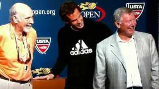007 James Bond, Sir Alex Ferguson with Andy Murray