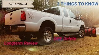 ford 6 7 powerstroke dpf delete longterm review
