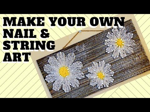 DIY | How to Make Your Own Nail & String Art!!
