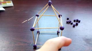 Как сделать дом из зубочисток и пластилина